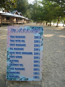 The price list
